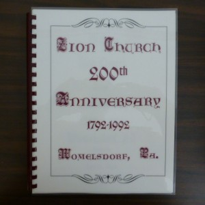 Zion Church 200th Anniversary 1792-1992